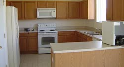 The large kitchen!