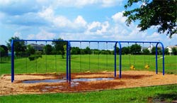 The swings at Oak Park